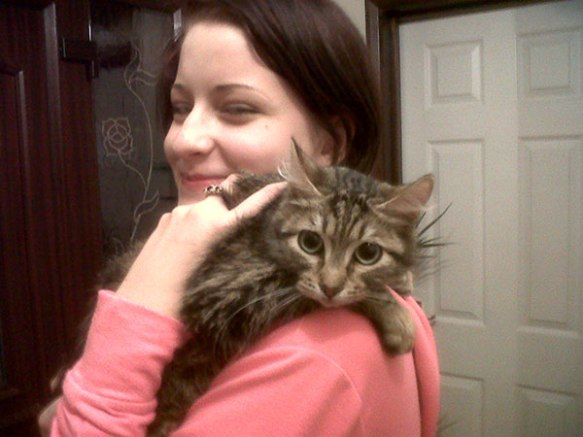 Lily was so happy to be home she purred her little heart out…