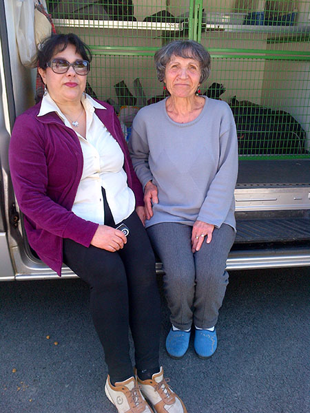 Amelia and Joanna, two friends who helped get everything organised