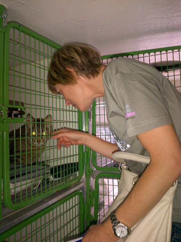 Cordelia says goodbye to Bugsy, who has been adopted by Rosalia in Surrey