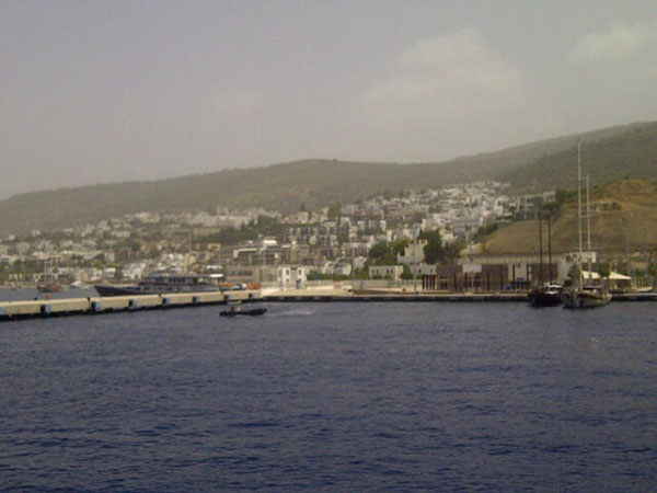 Pulling in to the port of Bodrum