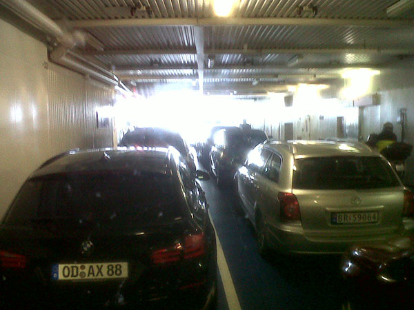 The Rodby ferry takes about an hour and links Germany to Denmark