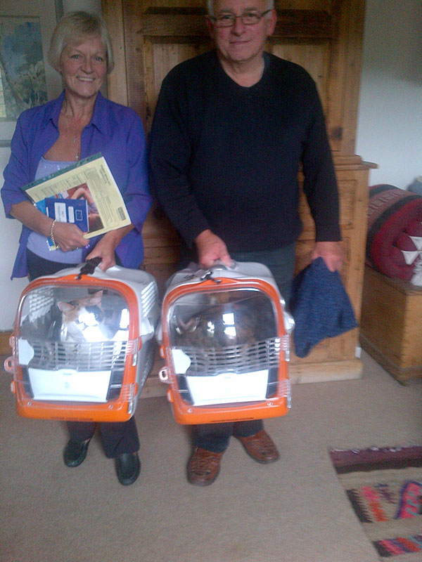 June and Len, with Spangle and Toffee, all of whom are North Cyprus bound