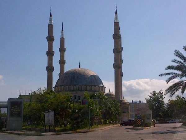 Just one of the many handsome mosques we've passed