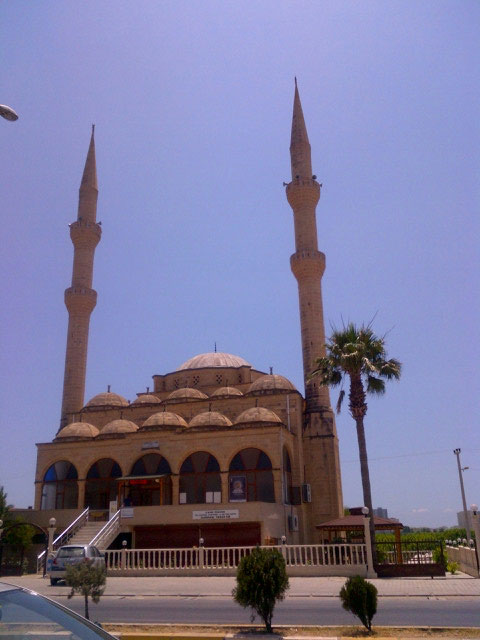 We passed a beautiful stone mosque
