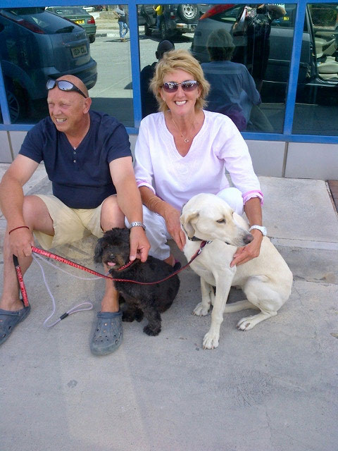 Cookie (aka Niomi) and Purdey with Bob and Lynn