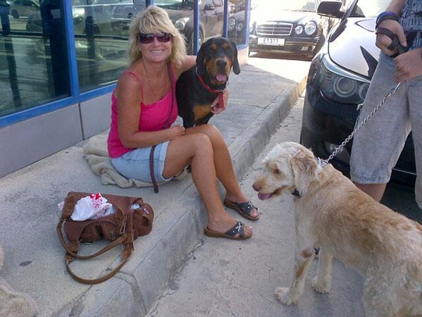 Diane with Roxy and Jasper