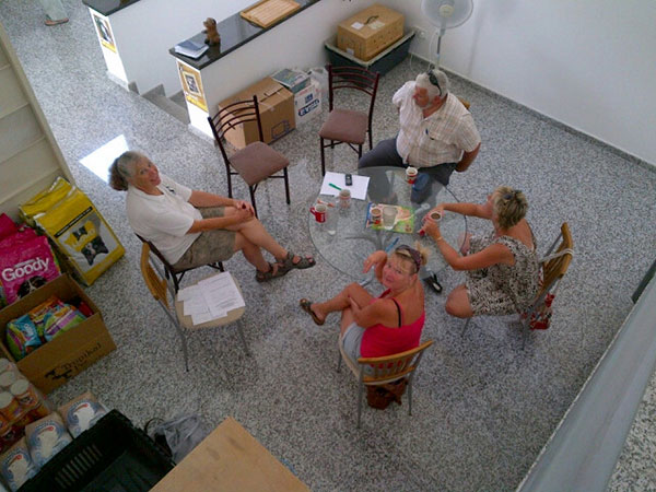 A real 'round table' meeting at KAR's office