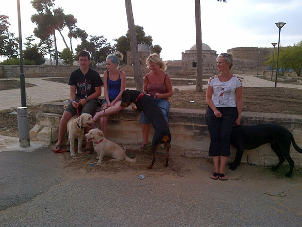 We took the dogs for a walk around the old part of Famagusta city