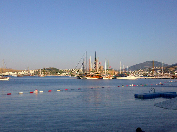 Morning view over Bodrum bay