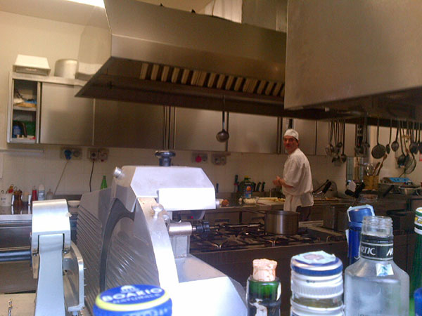 The chef popped his head out to see what was going on, so we looked in to say hello