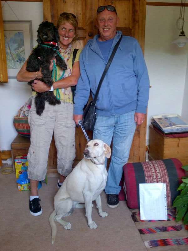 Cookie with Lynn, Purdey with Bob