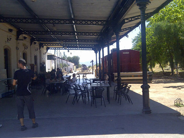 In Cordoba we stopped at a rather wonderful olive oil mill and store. It's housed in the the old train station in the town of Luque, where once upon a time the olives were transported along the railway line to a nearby factory making lots of olive oil products.