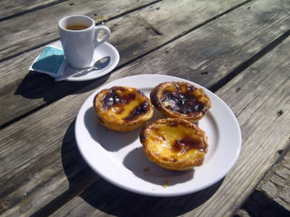 We couldn't resist a breakfast of traditional custard tarts before leaving Portugal this morning