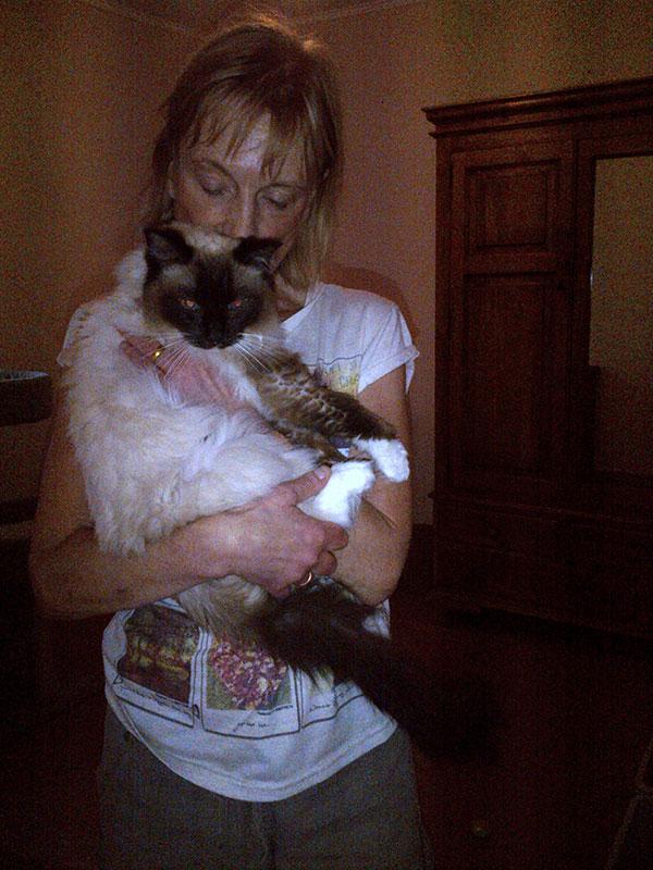 Anne cuddling Ambrose
