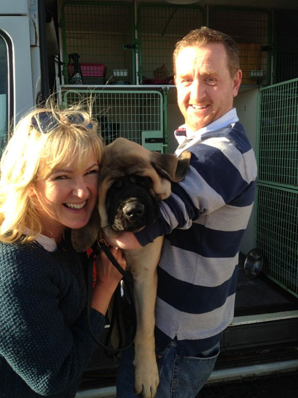 Claude meets his delighted new family
