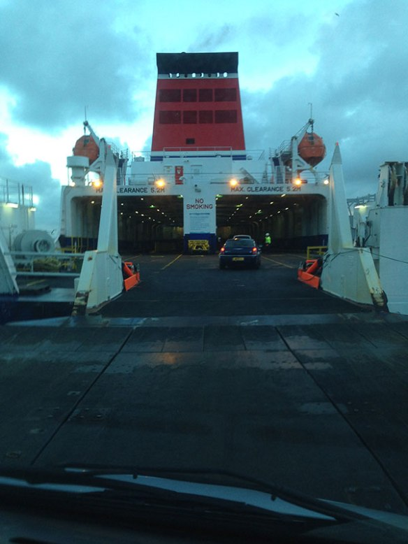 All aboard the ferry for Ireland with Claude, Xenia, JJ and Ike