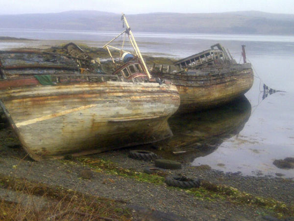 Abandoned fishing boats
