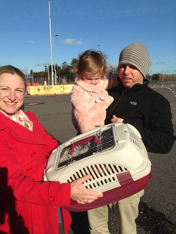 Xenia with her wonderful new family