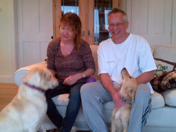 Vegas and Poppy with Sally and Danny