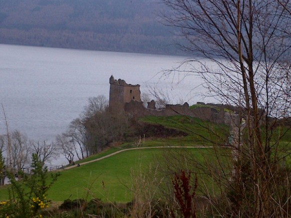 The ruins of Urquhart Castle by Loch Ness