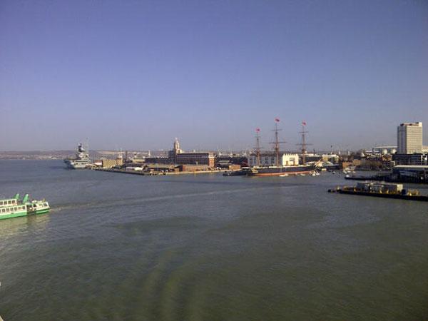 Leaving Portsmouth harbour