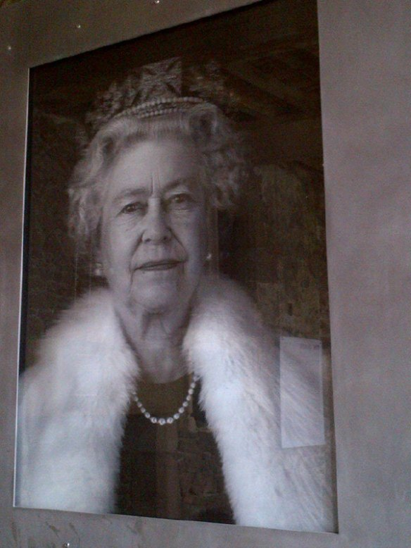 As part of Jersey's celebration of its 800-year-old relationship with the British monarchy, artist Chris Levine created photos and holograms of the queen, which are displayed on some of the castle walls