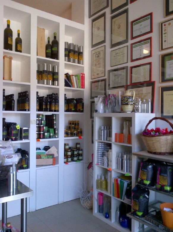 Like all good local businesses, there's an outlet for the home-produced olive oil and pasta products