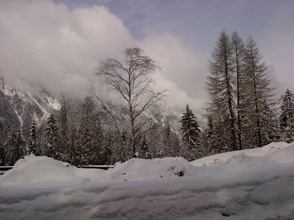 Making our snowy way through the Mont Blanc area