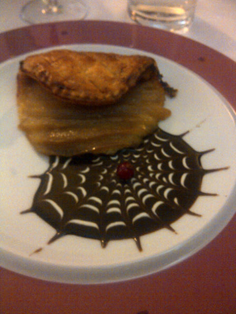 The rather splendid apple puff we enjoyed at a French Logis — is it a dessert or a work of art?
