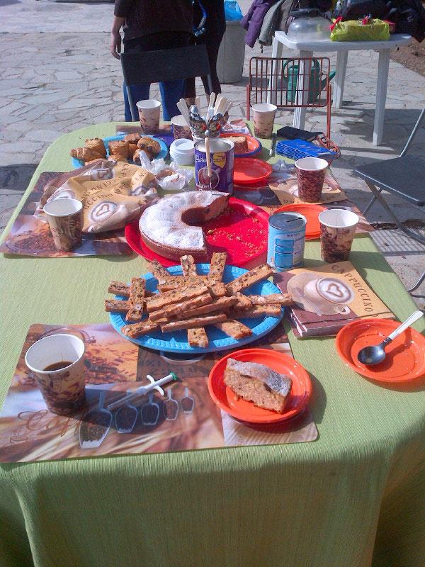 The wonderful breakfast spread