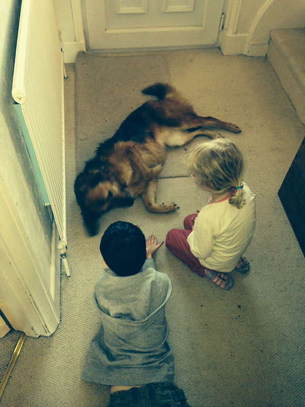 Sofie with Leon and his sister