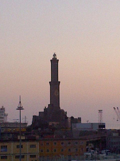 The iconicLanterna, Genoa's renaissance lighthouse built in 1543