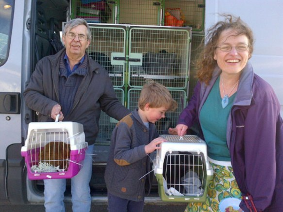 Smiles all round as Barry, Matt and Theresa are reunited with Elsa and Gypsy