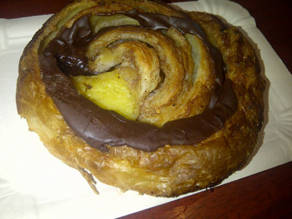 One of the outrageous breakfast pastries the Danish are known for