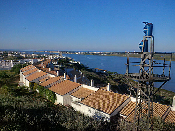 This was Lili's view, over the estuary in Ayamonte