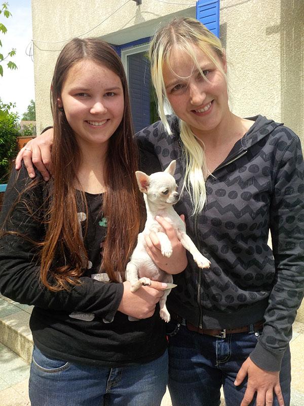 Pretty little Jacinta with Roxane and Ida