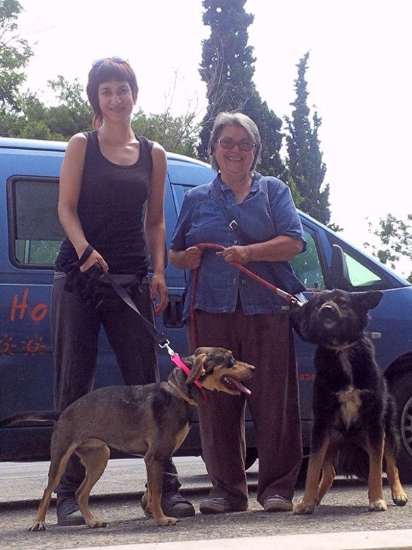 Emilia and Kiki with Kaluha and Pete