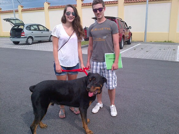 Cooper at the start of his journey in Italy