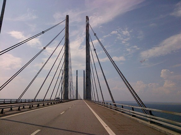 Yes, it's 'that' bridge again — the Oresund Bridge that links Sweden and Denmark