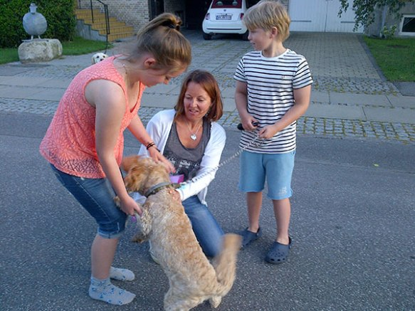 Sweet Alfie is extremely happy to be reunited with his family