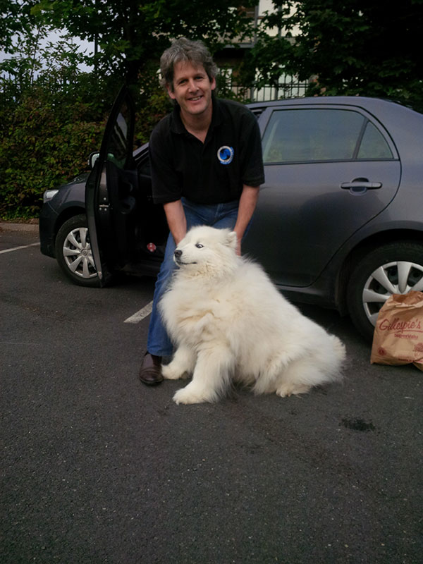 Donal with super-floofy Siku