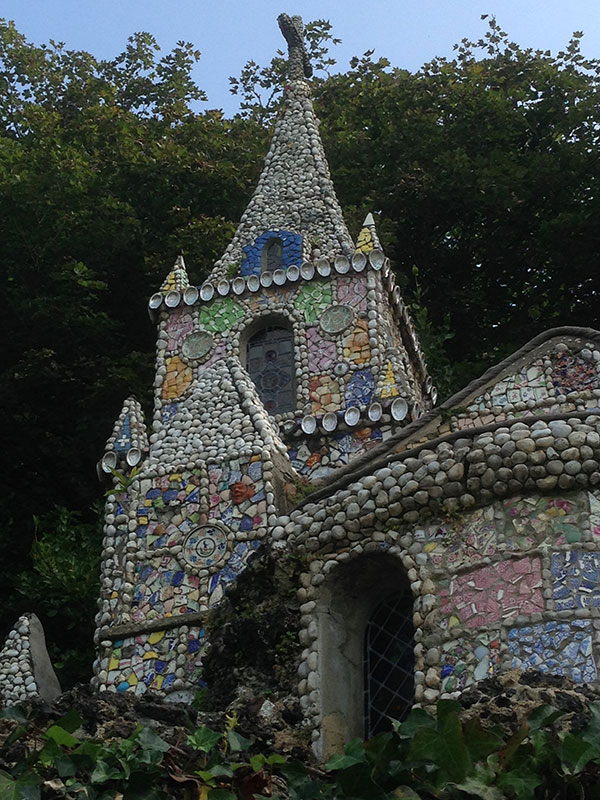 We came across the Little Chapel, decorated with seashells, pebbles and broken china. Built exactly 100 years ago, it's just 5m square and is said to be the world's smallest consecrated church