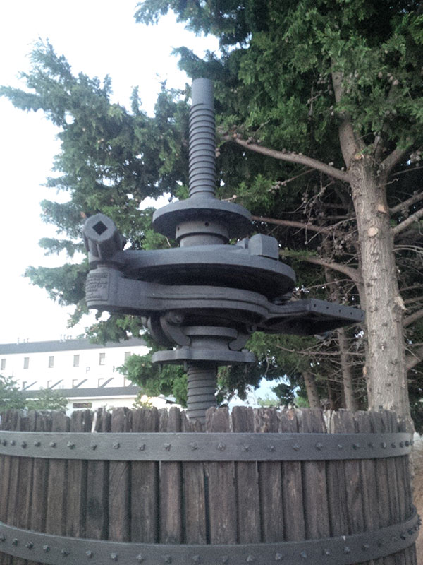 This old grape press at the edge of the Hotel Picque's car park reminds us that Gandesa has a thriving wine industry