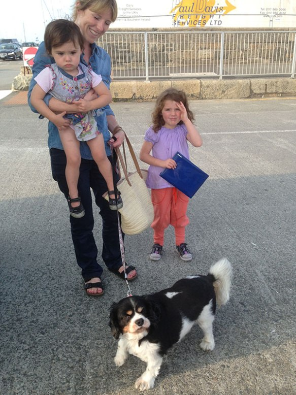 Jack's family were waiting excitedly for him on the quayside, and there were lots of hugs the minute they were reunited