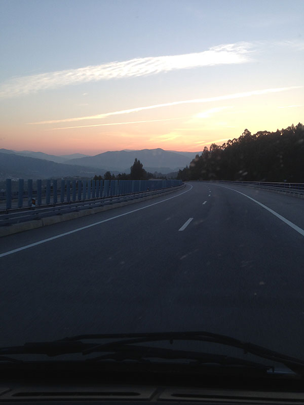It was an early start in Spain but we had the pleasure of watching the sun rise over the mountains