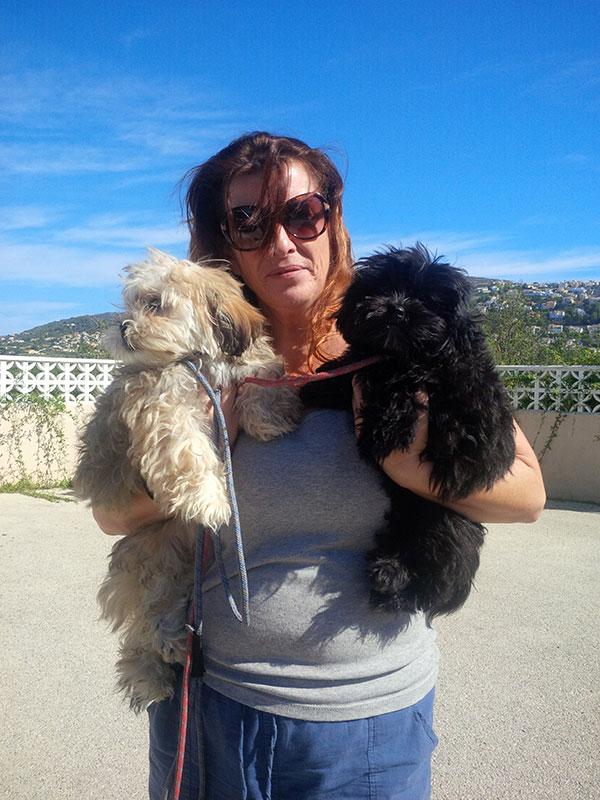 Lesley from The Dog House welcomes Taz and Milo