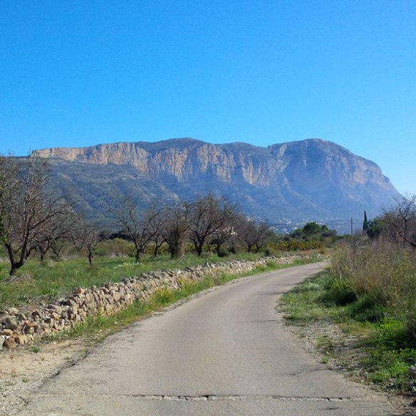 Mount Montgo, also known as elephant mountain — because it's said to resemble an elephant's head — overlooking Jesus Pobre and the surrounding region in Alicante