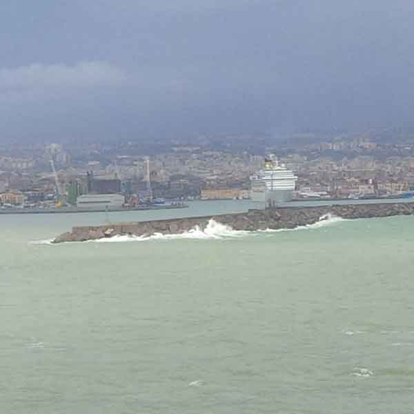 Choppy waters off Sicily