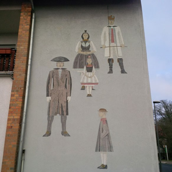 We also liked these charming paintings of historical figures