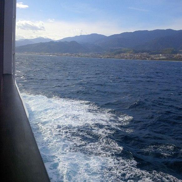Getting close to the Sicilian coast